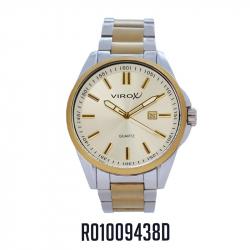 RELOJ VIROX METAL ANÁLOGO HOMBRE DORADO-PLATEADO R01009438D