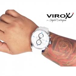 RELOJ VIROX BISEL INTERNO MULTIFUNCIONAL BLANCO/AZUL