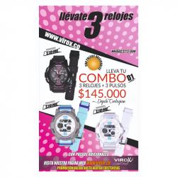Relojes Deportivos Para Dama Virox Doble Hora En Combo REF: D1