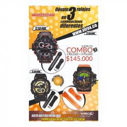 Relojes Deportivos Para Hombre Virox Doble Hora En Combo REF: D3