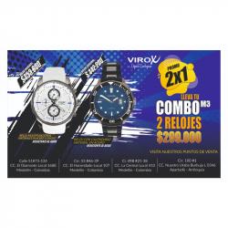 RELOJES DE ACERO PARA HOMBRE VIROX. COMBO REF:M3