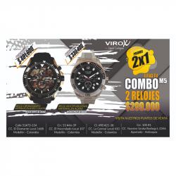RELOJES DE ACERO PARA HOMBRE VIROX. COMBO REF:M5