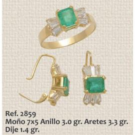 JUEGO DE ANILLO, ARETES Y...