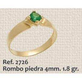 ANILLO DE COMPROMISO ROMBO...