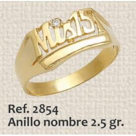 ANILLO DE 15 AÑOS, NOMBRE...