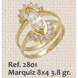 ANILLO DE DAMA MARQUIZ 8X4...